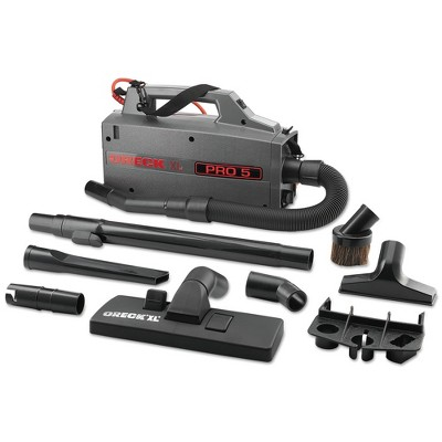 Oreck Commercial BB900-DGR Commercial XL Pro 5 5-1/4 in. x 8 in. x 13-1/2 in. Canister Vacuum - Gray