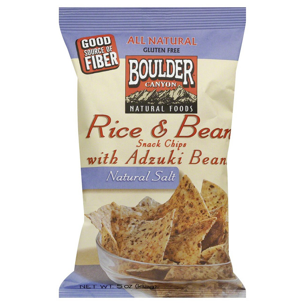 Boulder Natural Salt Rice and Bean Snack Chips with Adzuki Bean - 5 oz (Pack of 12)