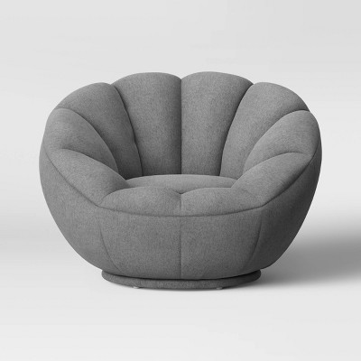Low-Profile Swivel Tulip Chair Gray - - Room Essentials™