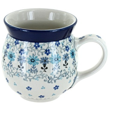 Blue Rose Polish Pottery Celeste Bubble Mug