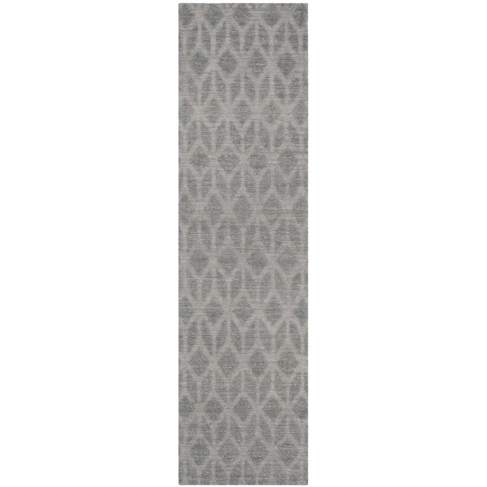 2'3X12' Woven Tribal Design Runner Rug Gray - Safavieh