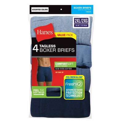 Hanes Men's 4pk Comfortsoft Waistband Boxer Briefs with Fresh IQ - 2XL
