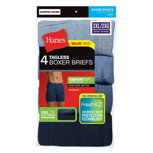 Hanes Men's 4pk Comfortsoft Waistband Boxer Briefs with Fresh IQ - 2XL - image 1 of 2