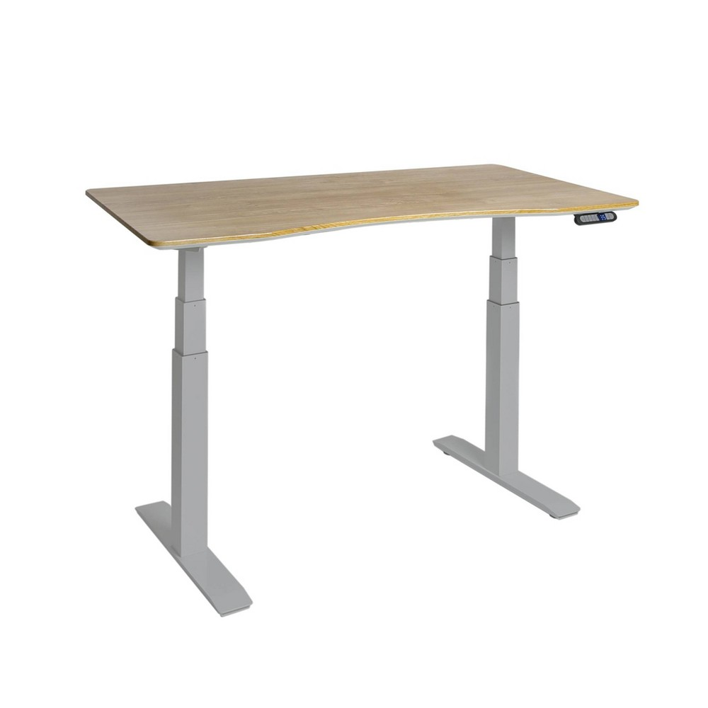 Airlift S3 Height Adjustable Standing Desk Frame with 4 Memory Buttons Light Brown - Seville Classics