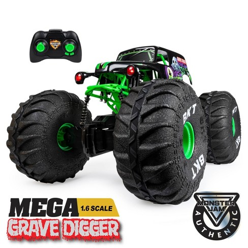 Monster Jam Official Mega Grave Digger All-Terrain Remote Control Monster Truck with Lights - 1:6 Scale - image 1 of 4