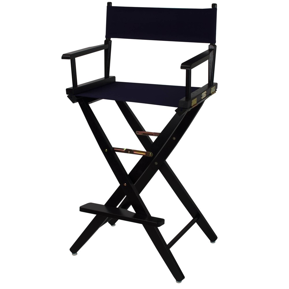 30 34 Extra Wide Directors Chair Navy Flora Home