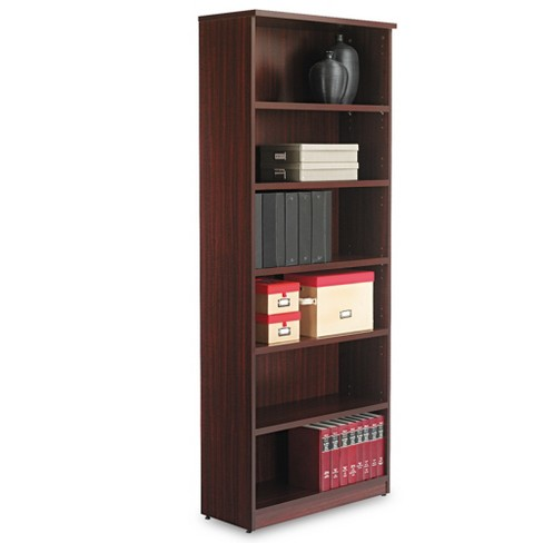 Alera® Valencia Series Bookcase, Six-Shelf, 31 3/4w x 14d x 80 3/8h, Mahogany - image 1 of 2