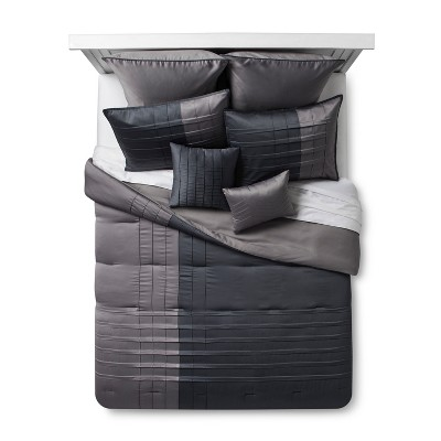 Gray Peral Matte Satin Comforter Set (King)8pc
