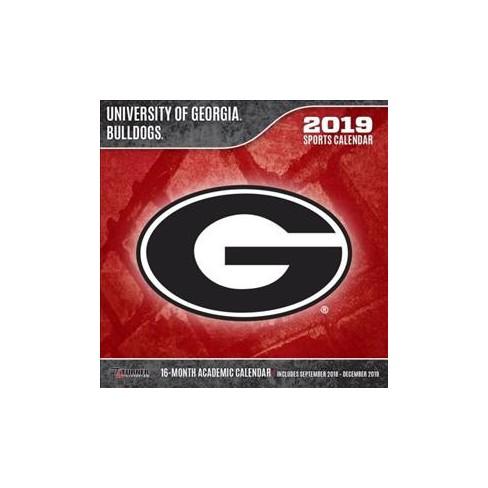 University Of Georgia Calendar 2019 University Of Georgia Bulldogs 2019 Calendar   (Paperback) : Target