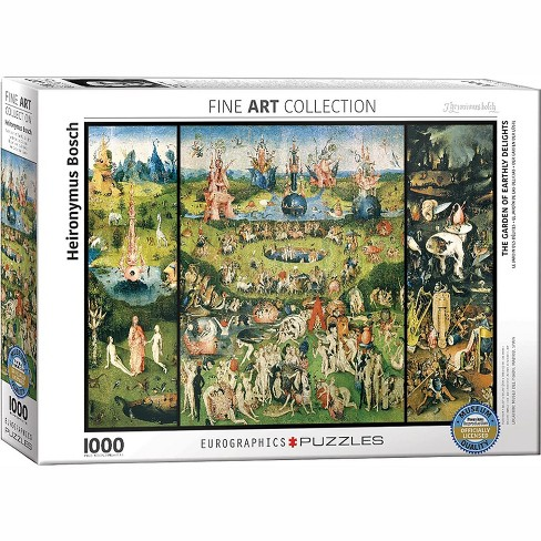 Eurographics Inc. The Garden of Earthly Delights by Hieronimous Bosch 1000 Piece Jigsaw Puzzle - image 1 of 4