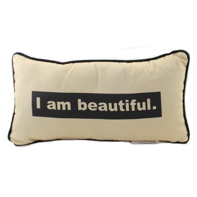 """Home Decor 9.0"""" Affirmations Beautiful Pillow Piping Edge  -  Decorative Pillow"""