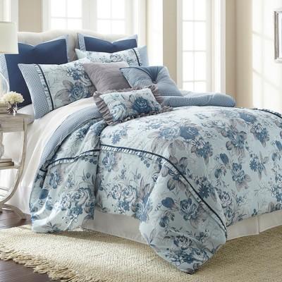Modern Threads 8 Piece Comforter Set, Floral Farmhouse.