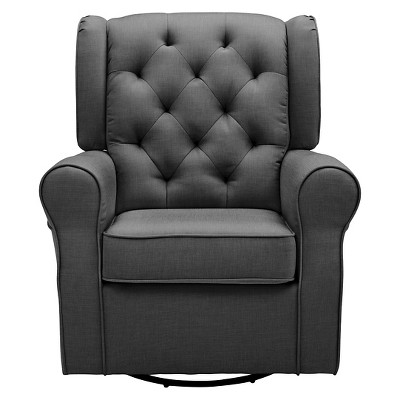 Delta Children® Emma Nursery Glider Swivel Rocker Chair – Charcoal