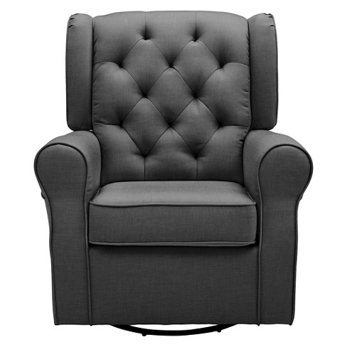 Delta Children Emma Nursery Glider Swivel Rocker Chair Charcoal