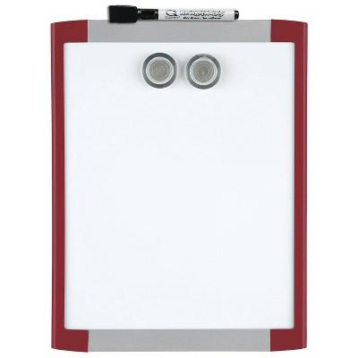"""Quartet 8.5"""" x 11"""" Magnetic Dry Erase Board - Red Frame"""
