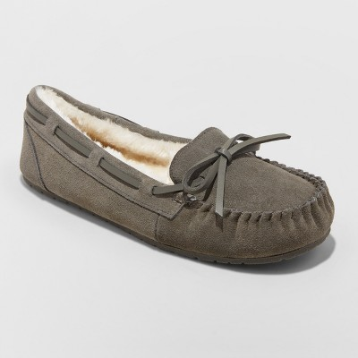 Women's Chia Suede Slippers - Gilligan & O'Malley™ Gray 9