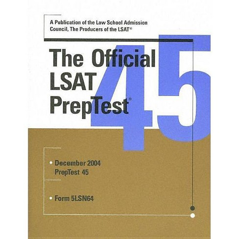 The Official LSAT Preptest 45 - by  Wendy Margolis (Paperback) - image 1 of 1