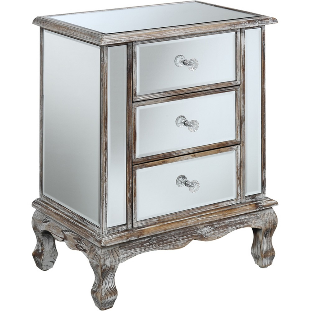 Gold Coast Vineyard MirroRed Cabinet WeatheRed - Gray - Convenience Concepts