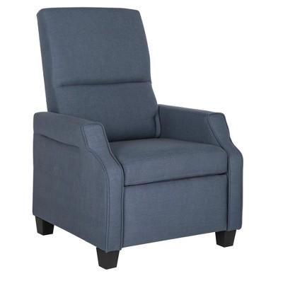 Hamilton Recliner Chair   Navy   Safavieh®
