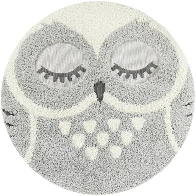 4' Owl Round Rug - Balta Rugs