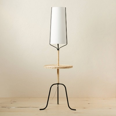 Mixed Material Shelf Floor Lamp (Includes LED Light Bulb) Brown - Opalhouse™ designed with Jungalow™
