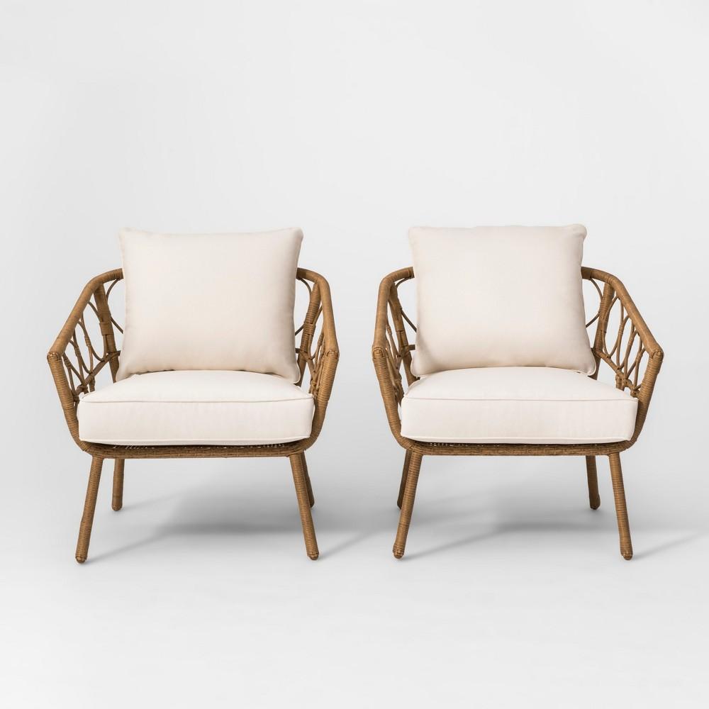 Britanna 2pk Patio Club Chair Natural - Opalhouse