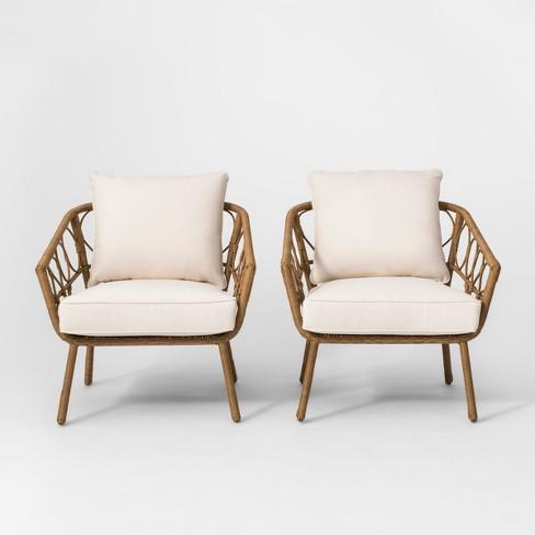 Britanna 2pk Patio Club Chair Natural