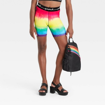 """Pride Gender Inclusive Adult 16"""" Tie-Dye Bike Shorts - PH by the Phluid Project"""