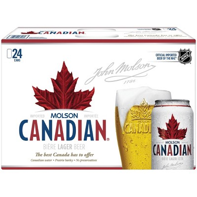 Molson Canadian Lager Beer - 24pk/12 fl oz Cans