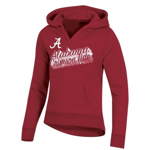 NCAA Alabama Crimson Tide Girl's Split Neck Hoodie - image 1 of 2