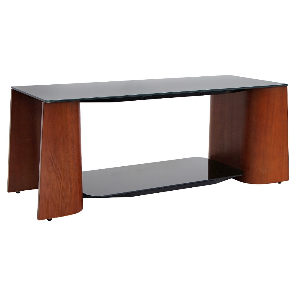 Wood/Glass Ladder Coffee Table Brown - LumiSource