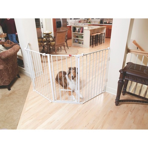 "Carlson Flexi Metal Dog Gate - 38""H - White - image 1 of 3"