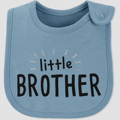 Baby Boys' Family Love 'Little Brother' Bib - Just One You® made by carter's Blue