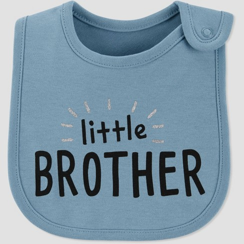 Baby Boys' Family Love 'Little Brother' Bib - Just One You® made by carter's Blue - image 1 of 1