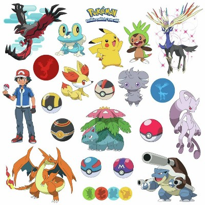 Pokemon Xy Peel and Stick Wall Decal