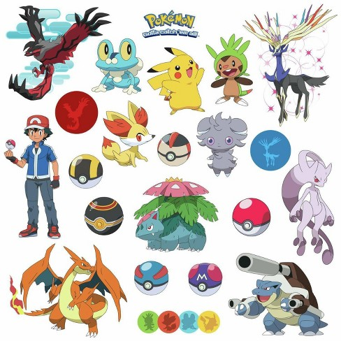 Pokemon Xy Peel and Stick Wall Decal - image 1 of 3