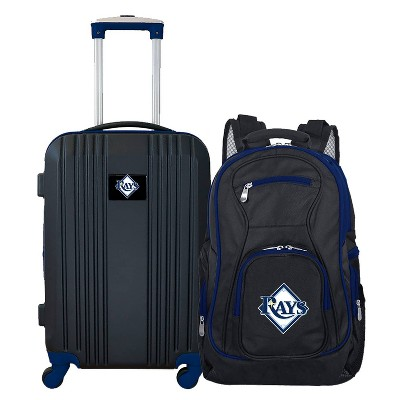 MLB Tampa Bay Rays 2 Pc Carry On Luggage Set