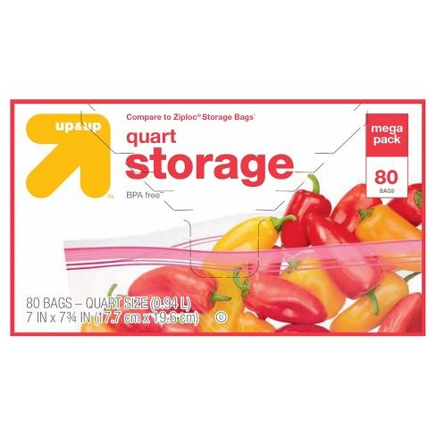 Quart Storage Bags - 80ct - Up&Up™ - image 1 of 1