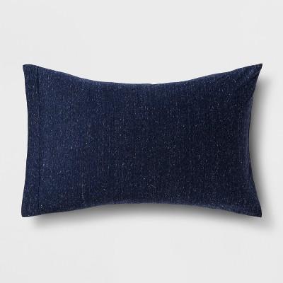 Heathered Jersey Pillowcase (Standard)Nighttime Blue 1pc - Room Essentials™