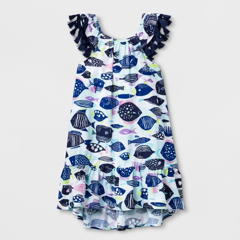 6d5aeffae0b Toddler Girls  A-Line Dress - Cat   Jack™ Fresh White 4T   Target