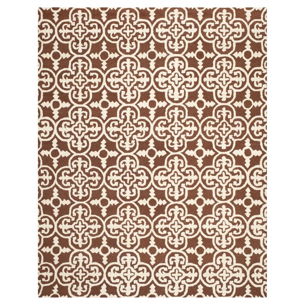9'X12' Geometric Area Rug Dark Brown/Ivory - Safavieh