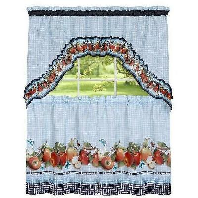 GoodGram Fiji Apples Kitchen Curtain Tier & Swag Set by GoodGram