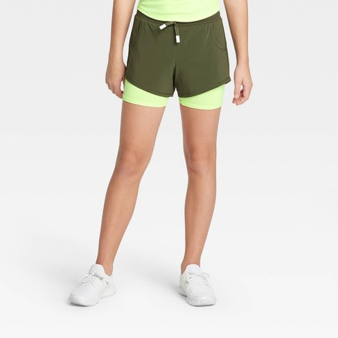 Girls' Double Layer Run Shorts - All In Motion™ : Target