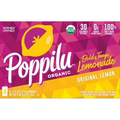 Poppilu Original Lemonade Drink - 8pk/6 fl oz Pouches