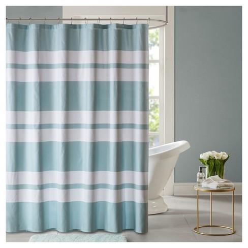 Shower Curtain Stripe Seafoam - image 1 of 1