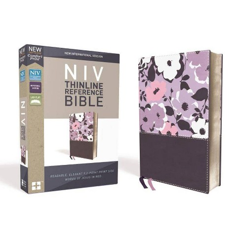 NIV, Thinline Reference Bible, Imitation Leather, Purple, Red Letter Edition, Comfort Print - image 1 of 1
