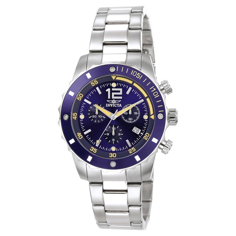 Men's Invicta 1246 Specialty Quartz 3 Hand Blue Dial Link Watch - Blue