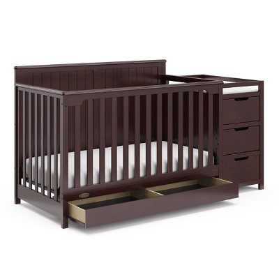 Graco Hadley 4-in-1 Convertible Crib and Changer with Drawer - Espresso