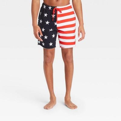 Men's Americana Pajama Shorts - White