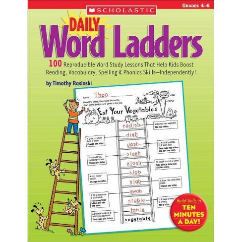 Daily Word Ladders: Grades 4-6 - by  Timothy Rasinski (Paperback) - image 1 of 1